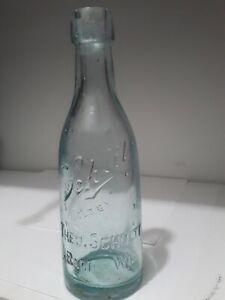 THeo Schulte Schlitz Racine Wis Blob Top Beer Bottle 8 oz Size No Glass Maker wi