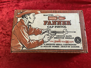 ORIGINAL Mattel Shootin Shell Fanner Cap Pistol Box #608: BOX ONLY