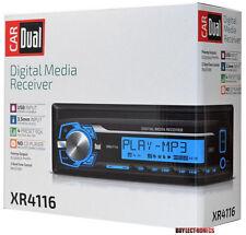 DUAL XR4116 SINGLE DIN MECHLESS MP3/USB/AUX DIGITAL MEDIA RECEIVER