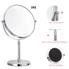 10x Magnifying Rustproof Makeup Mirror 8 Inch Double-sided Tabletop Mirror