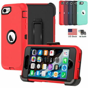 For iPhone SE 2020/8/7 Case Shockproof Heavy Duty Cover Belt Clip Fits Otterbox