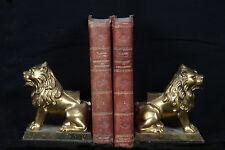 Serres-livre en bronze, Lion / Bookend, bronze lions
