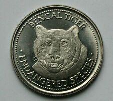 World Endangered Species Coin Collector Souvenir Medal India Bengal Tiger Animal