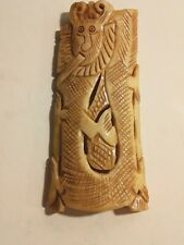 Vintage Chinese Carved Bone Pendant