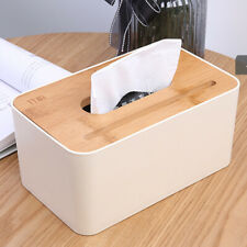 Bamboo Wood Tissue Box Multi-function Storage Household & Mobile Phone Holder