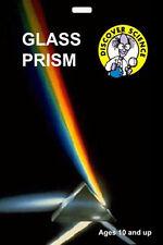 *NEW* Optical Glass Prism - demonstrates white light spectrum -  Isaac Newton
