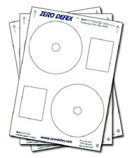 100 Zero Defex Matt Full Face CD / DVD Labels ZDL4004
