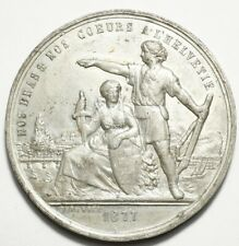 SUISSE : RARE MEDAILLE DU TIR CANTONAL DE GENEVE 1877