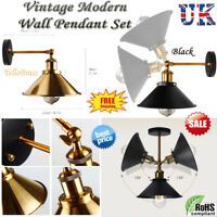 Modern Retro Light Rustic Sconce Lamp Fixture Vintage Industrial Wall Mounted UK