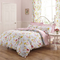 Chic Boutique Floral Reversible Duvet Cover Set or Curtains in Blues and Pinks