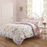 Chic Madison Floral Reversible Duvet Cover Set Blue Background with Pink Design