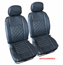 VW LEATHER LOOK KNIGHTSBRIDGE FRONT SEAT COVERS Caddy Passat Polo Sharan Arteon