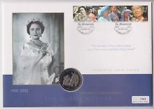 ISLE OF MAN COIN COVER PNC 2002 QUEEN MOTHER MEMORIAL COVER 1 CROWN ISSUE # 1564