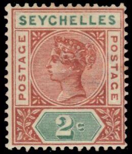 "SEYCHELLES 2 (SG28) - Queen Victoria ""Keyplate"" Die II (pb29507)"