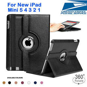 For Apple iPad Mini 123 4 5 Shockproof 360° Rotating PU Leather Stand Case Cover