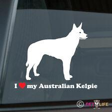 I Love My Australian Kelpie Sticker Die Cut Vinyl - barb