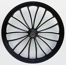 "Black Manhattan 26"" x 3.5"" Billet Front Wheel Rim Harley Touring Single Disc"