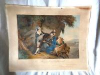 Gravur Kunstblatt Antik Gemälde Eastlake Graviert By Gravur IN Paris Der Räuber