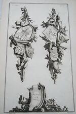 EAU FORTE JEAN CHARLES DELAFOSSE-VOYSARD LES ARMES ET LA GRAVURE-TROPHEES 1772