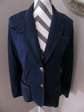Macy's Liz Claiborne Navy Blue Cotton Blend Blazer NWT LARGE