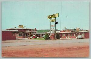 West Rapid City South Dakota~Motel Rapid Building~Vintage Postcard