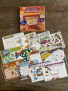 ETCH A SKETCH Games & Puzzles - 12 Colorful Overlays (Ohio Art) In Original Box!