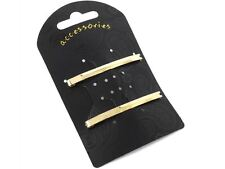 Gold Single Bar Clip In End Barrette Hair Clips Grips Slides