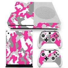 CAMO Series PINK Xbox One S Skin Decal Wrap Vinyl Sticker ARMY PRINT