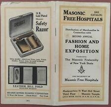 Masonic Free Hospitals 1923 Catalog Fashion & Home Exposition Merchandise