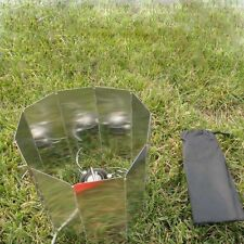 9 Plates Camping Cookout Aluminum Foldable Stove Burner Windshield Screen+bag