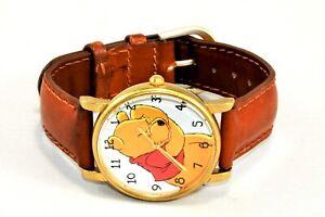 Vintage Disney Winnie the Pooh Timex Quartz Watch TF3 Leather Band New Battery