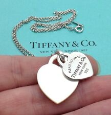 Tiffany & Co. Silver Return To Tiffany Mother Of Pearl Double Heart Necklace