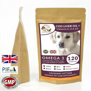Cod Liver Oil + Vitamin E,A & D3  High Strength  1000mg 120 Gels