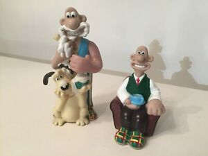 Vintage 2 different Wallace and Gromit hard plastic bubble bath bottles - empty
