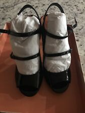 New Via Spiga Black Sandals Size 6. With Tags And Box