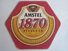 Vintage Beer Breweriana Coaster: AMSTEL Bier Pilsener ~*~ NETHERLANDS Since 1870