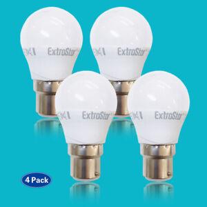 LED Standard GLS Golf Bayonet Light Bulbs, 4Pack, BC B22 Light Lamp 4w/5w/6w/7w