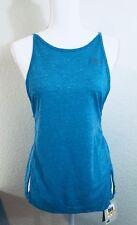 NWT PUMA Women's Dancer Drapey Tee Blue Atoll Heather Sz S MSRP $35