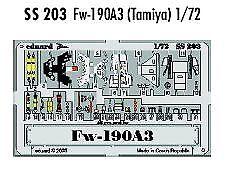 Eduard 1/72 Focke Wulf Fw 190A-3 PRE-PAINTED IN COLOUR! # SS203