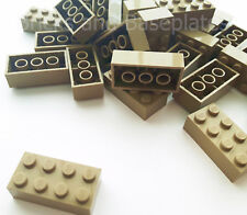 LEGO BRICKS 100 x DARK TAN 2x4 Pin - From Brand New Sets Sent in a Clear Sealed