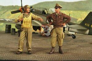 Verlinden 1/32 USAAF Fighter Pilots WWII (2 Figures) [Resin Model kit] 2673