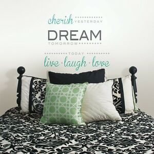 Wall Pops Wall Words Home Decor cherish, dream, live  Free Shipping!!