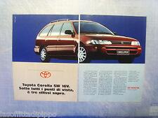 QUATTROR993-PUBBLICITA'/ADVERTISING-1993- TOYOTA COROLLA SW 16V (B) -2 fogli