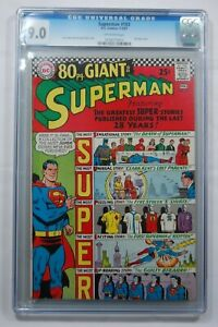 SUPERMAN #193 CGC 9.0 OW PAGES 1-2/67 80PG GIANT