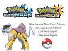 Pokemon Sun and Moon 2018 Legends Raikou Event Pokemon