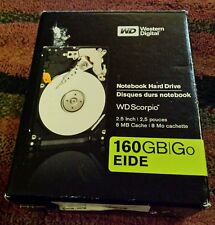 Western Digital Scorpio 160GB Notebook Hard Drive Factory Sealed Disc Open Box