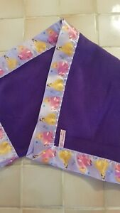 Handmade Red & Purple Fleece Blankets varies Disney Satin Bindings