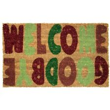 Welcome Goodbye Doormat with Anti-Slip Rubber Backing