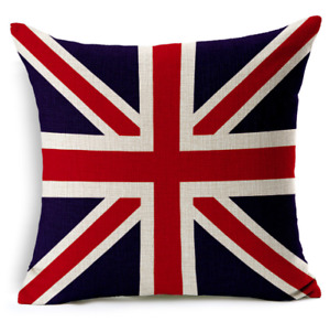 Cotton Linen Cushion Cover UK British National Flag
