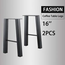 Black 16'' Industry Table Leg Metal Steel Chair Bench Legs DIY furniture